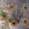5 db Sok Szirmú  Sárga Mázas Kerámia Virág (tp.1), Otthon, lakberendezés, Kaspó, virágtartó, váza, korsó, cserép, Kerámia, Virágkötés, Szedj egy csokrot a virágos kertemből !Állítsd össze saját csokrod! Tedd kosárba valamelyik összeál..., Meska