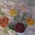 5db  Kerámia  Rózsa (tp.29), Otthon, lakberendezés, Dekoráció, Esküvő, Esküvői dekoráció, Kerámia, Virágkötés,  Szedj egy  csokrot  a virágos kertemből! A termékmegnevezés utáni kódot és darabszámot kell megírn..., Meska