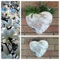 """,Rusztika és Romantika """" Kerámia Virágtartó, Dekoráció, Otthon, lakberendezés, Kaspó, virágtartó, váza, korsó, cserép, Dísz, Kerámia, Ezeket a szív formájú virágtartókat kevert agyagból szabadkézi formázással készítettem ,csipke leny..., Meska"""