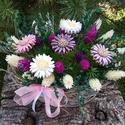 """,Őszirózsák""""Kerámia Virágos Asztaldísz, Dekoráció, Otthon, lakberendezés, Kaspó, virágtartó, váza, korsó, cserép, Asztaldísz, Kerámia, Virágkötés, Aprólékos kézi munkával fehér agyagból készítettem ezeket a kis  mázas kerámia virágokat  és levele..., Meska"""