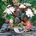 """, Őszi Színek""""Kerámia Virágos Asztaldísz, Dekoráció, Otthon, lakberendezés, Kaspó, virágtartó, váza, korsó, cserép, Asztaldísz, Kerámia, Virágkötés, Már egy kicsit hangolódom az őszre mert már látom a lassan de  hulló faleveleket.Gondolom sokan vág..., Meska"""