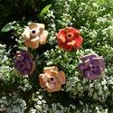 """5db,Tarka-Barka""""Kerámia Virág (tp.205), Otthon, lakberendezés, Kaspó, virágtartó, váza, korsó, cserép, Kerámia, Virágkötés, Szedj egy csokrot a virágos kertemből !Állítsd össze saját csokrod! Fehér agyagból aprólékos kézi m..., Meska"""