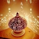 """,Talizmán""""Kerámia Éjjeli Lámpa, Otthon, lakberendezés, Lámpa, Hangulatlámpa, Asztali lámpa, Kerámia, A LÁMPA MELY HANGULATOT TEREMT!Válogass bátran a formák és a hangulatok közt!A fény tökéletes kiegé..., Meska"""