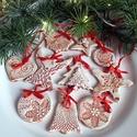 """,Vintage""""Kerámia Karácsonyfadísz 10 db, Dekoráció, Ünnepi dekoráció, Karácsonyi, adventi apróságok, Karácsonyfadísz, Kerámia, Az ünnep még meghittebbé tehető kedves karácsonyi dekorációval.Használhatod ajándék kísérőként is d..., Meska"""