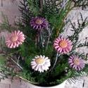 """5db""""Ősz Rózsa """"Kerámia Virág (tp.203), Otthon, lakberendezés, Kaspó, virágtartó, váza, korsó, cserép, Kerámia, Virágkötés, Szedj egy csokrot a virágos kertemből !Állítsd össze saját csokrod! Fehér agyagból aprólékos kézi m..., Meska"""