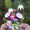 """,Fehér Harangvirágos""""Kerámia Virágos Asztaldísz, Otthon, lakberendezés, Kaspó, virágtartó, váza, korsó, cserép, Asztaldísz, Kerámia, Virágkötés, Annak aki a virágot szereti!Egész évben díszítő! Fehér agyagból aprólékos kézi munkával és 2 szeri ..., Meska"""
