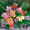 """, """" Kerámia Virágos Asztaldísz, Dekoráció, Otthon, lakberendezés, Kaspó, virágtartó, váza, korsó, cserép, Asztaldísz, Kerámia, Virágkötés, Különleges csokor, neked vagy ajándéknak!Aprólékos kézi munkával fehér agyagból készítettem ezeket ..., Meska"""
