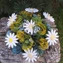 """, Margaréták"""" Kerámia Virágos Asztaldísz"""