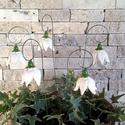 5db Kis Fehér  Kerámia Harangvirág (tp.38)