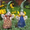 """,Janka és Blanka""""2db Kerámia Virágtündér, Dekoráció, Otthon, lakberendezés, Kerti dísz, Több ezer virágot készítettem már ezért gondoltam legyen tündérük is!Fehér agyagból kész..., Meska"""