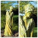 """,Zöldember""""Kerámia Szobor, Otthon, lakberendezés, Képzőművészet, Szobor, Kerámia, Időről-időre készítek néhány figurális szobrot is.Ezt a kissé melankolikus hangulatú szobr..., Meska"""
