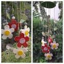 """,Nagy Színes Virágok Dallama"""" Kerámia  Szélcsengő, Dekoráció, Otthon, lakberendezés, Dísz, Kerti dísz, Ősi Feng Shui eszköz mely bőséget,harmóniát és meghitt kapcsolatokat teremt! Fehér agyagból..., Meska"""