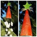 """,Karácsonyi Ének"""" Kerámia  Szélcsengő, Dekoráció, Otthon, lakberendezés, Dísz, Kerti dísz, Ezt a szélcsengőt ünnepi színekben az év talán a legszebb időszakára  karácsonyra készíte..., Meska"""