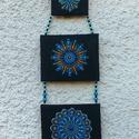 Mandala fali kép , Dekoráció, Otthon, lakberendezés, Kép, Falikép, Festészet, Festett tárgyak, Gyönyörű mandalás fali kép, mely három kézzel, pöttyöző technikával készült képet tartalmaz. A képe..., Meska