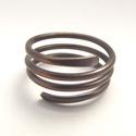 Spirál gyűrű, Ékszer, Gyűrű, Antikolt vörösrézből készült gyűrű. Több, kevesebb sorral is rendelhető. Nikkelmentes ékszer. Rendel..., Meska