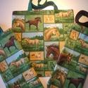 Lovas vászon táska, Táska, Szatyor, Strapabíró, mosható lovas vászon táska  Méret: 35x37 cm, Meska