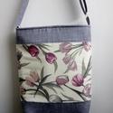Tulipános táska 2., Táska, Válltáska, oldaltáska, Igazán szép, nőies, ugyanakkor kicsit sportosabb nyári táska lehet a tiéd, ha ezt a darabot választo..., Meska