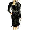 All black nő, Képzőművészet, Illusztráció, Fotó, grafika, rajz, illusztráció, A termék minőségi ecsetfilccel és pasztelkrétával készült fotó alapján. A megrendelt termék másolat..., Meska