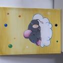 Sleepy elephant, Játék & Gyerek, Festészet, Gyermeked szobájába keresel képet a falra? Babalátogatóba készülsz, de nem tudod, mit ajándékozz? B..., Meska