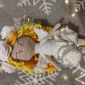 Angyal baba, Játék & Gyerek, Baba-és bábkészítés, Horgolás, Kézzel horgolt amigurumi angyal baba. Magassága: 27 cm. Catania fonalból készült, mosógépben moshat..., Meska
