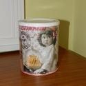 Bájos konyhai cukortartó, Otthon, lakberendezés, Konyhafelszerelés, Fűszertartó, Tárolóeszköz, Festett tárgyak, Minőségi fémdoboz felhasználásával készítettem ezt a romantikus vintage tárolót.   A doboz segít me..., Meska