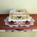 Mókás apróságok az ifjú párnak! - FELTÖLTVE  - Esküvői doboz, Dekoráció, Esküvő, Nászajándék, Festett tárgyak, Vintage stílusban készített 12 rekeszes fadoboz esküvőre, lánybúcsúra, eljegyzésre.  A dobozt 2 rek..., Meska