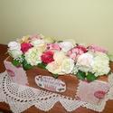 Vidám asztali virágdísz , Dekoráció, Dísz, Virágkötés, Ez az asztali dísz tökéletes ajándék lehet születésnapra, névnapra, vagy csak úgy.  A deszkából kés..., Meska