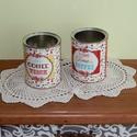 Vintage tároló dobozok, Konyhafelszerelés, Otthon, lakberendezés, Fűszertartó, Tárolóeszköz, Decoupage, szalvétatechnika, Festett tárgyak, Minőségi fémdobozok felhasználásával készítettem ezeket a tárolókat.  A doboz segít megőrizni az íz..., Meska