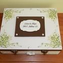 Mókás apróságok az ifjú párnak! - FELTÖLTVE  - Nászajándék doboz, Dekoráció, Esküvő, Nászajándék, Festett tárgyak, Az esküvői meghívó stílusához igazodó 12 rekeszes fadoboz esküvőre, lánybúcsúra, eljegyzésre.  A do..., Meska