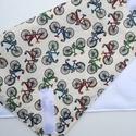 Szendvicsbatyu (biciklis), 30 x 30 cm textilszalvéta, mely kívülről pamut...