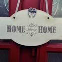 Sweet home vintage ajtódísz, Otthon, lakberendezés, Ajtódísz, kopogtató, Ajtódísz, kopogtató, Mindenmás, Vintage stílusú fa tábla egy édes otthon ajtajára :) A fa táblát akril festékkel festettem le és tr..., Meska