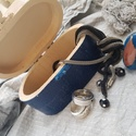 Rusztikus kék mozaikos  fadoboz dobozka ládika ékszertartó, Otthon & lakás, Lakberendezés, Tárolóeszköz, Doboz, Dekoráció, Nagyon kedves és vidám darab. Alapja fa, fémcsattal záródik. Díszítése kerámiamozaik, és üvegmozaik...., Meska