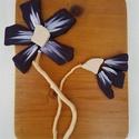 Lila padlizsánlila orchidea magnólia organikus kavicskép - 3D virág falikép dekoráció