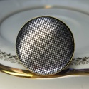 Selymes ezüstfényű  mono gyűrű, Különleges darab ez a selymes, fényes gombfej b...