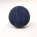 Farmer sötétkék farmerkék kék mono gyűrű, Ékszer, Táska, Divat & Szépség, Gyűrű, Egyszerű letisztult darab ez a gombfej betétes gyűrű.  A 25 mm -es betét igazi présgéppel készült - ..., Meska