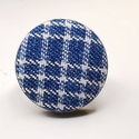 Farmer sötétkék fehér rácsos kék fehér mono gyűrű, Ékszer, Táska, Divat & Szépség, Gyűrű, Egyszerű letisztult darab ez a gombfej betétes gyűrű.  A 25 mm -es betét igazi présgéppel készült - ..., Meska