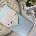 Mozaik szív kavics kép - Vintage babakék fehér - 3D falikép dekoráció természetes kő kép, Otthon & lakás, Dekoráció, Lakberendezés, Falikép, A kép kézműves technikával készült, természetes alapanyagokból.   Kampó és akasztó nélkül mérve az a..., Meska