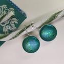 Zöld-arany-kék hologramos kigyóbőrmintás bogárfényű erdő tündér fülbevaló, Az ár egy pár makaron fülbevalóra vonatkozik. ...