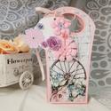 Romantikus rusztikus ajándékátadó táska díszdoboz, szülőköszöntő, lánybúcsú, esküvő: HMB2107_30, Mérete:  21.5 x 9 x 6  cm Magassága 21.5 cm Legs...