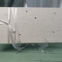 Hófehér romantikus pénzátadó boríték, Nászajándék, Gratulálunk boríték, Esküvői Gratuláció : HMB2107_60, Pénzátadó boríték mérete:  21 x10.5 cm  Pén...