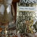 Arany pénzátadó Karácsonyi zsebes ajándékkísérő üdvözlőlap szatén szalaggal, borítékkal:  HMB2110_65, Igazán elegáns és stílusos, standard méretű,...