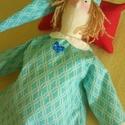 Hálóinges álommanó, Baba-mama-gyerek, Játék, Baba játék, Plüssállat, rongyjáték, Varrás, Ez a kedves kis álommanó már háló-ingben, sapkában és kezében a párnájával várja a lefekvést.   A j..., Meska