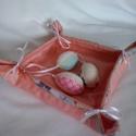 Húsvéti díszek, Dekoráció, Húsvéti díszek, Otthon, lakberendezés, Ünnepi dekoráció, Patchwork, foltvarrás, Varrás, A megvásárolható textil tárolóban tarthatjuk a húsvéti tojásokat, de akár a megterített asztalon a ..., Meska