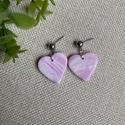LOTTI rózsaszín gyurma fülbevaló, Ékszer, Fülbevaló, Lógós fülbevaló, Ékszerkészítés, Gyurma, Kézzel készült egyedi fülbevaló, rózsaszín, lila és fehér színű süthető ékszergyurma felhasználásáv..., Meska