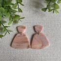 ODETT rózsakvarc színű gyurma fülbevaló, Kézzel készült egyedi fülbevaló, rózsaszín ...