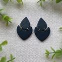 FATIMA fekete gyurma fülbevaló, Kézzel készült egyedi fülbevaló, fekete szín...
