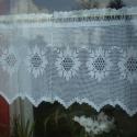 Múlt idéző,fehér vitrázs horgolt csipke függöny,  Kézzel horgoltam ezt a szép, múltat idéző,de...