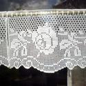 """""""Falusi idill""""-horgolt,rózsa mintás vitrázs függöny, Ez a darab Áginak készült. Mérte: 20cm X 63 cm..."""