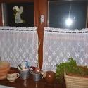Francia vidéki romantika.- horgolt fehér csipke függöny,  Megvásárlása : babutsan részére lehetséges....