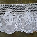 Vidéki romantika 2-Horgolt fehér rózsa mintás csipke függöny, Ez a termék Mariann részére készült.Megvásá...